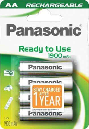 Panasonic polnilna baterija AA HHR-3MVE, 4 kosi