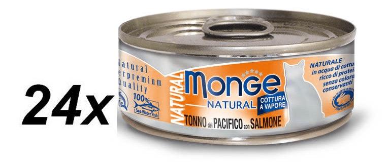 Monge NATURAL tuňák s lososempro kočky 24 x 80 g
