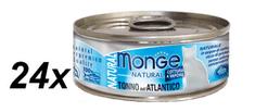 Monge kozervirana hrana za mačke Natural, tuna, 24 x 80 g