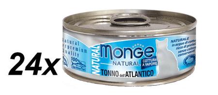 Monge NATURAL atlantický tuňák pro kočky 24 x 80 g