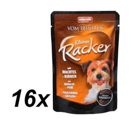 Animonda  saszetki dla psa VF Kleiner Racker przepiórka + gruszka 16 x 85g