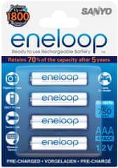 Sanyo baterije Eneloop 4 x AAA 750 mAh