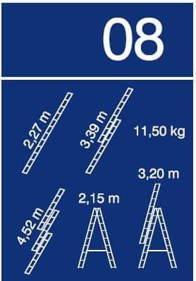 Venbos trodelna lestev Ratio 44, 3×8