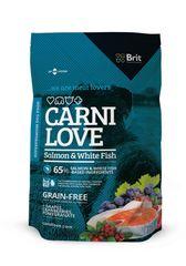 Brit Carnilove Kutyaeledel, lazacos, 1,5 kg