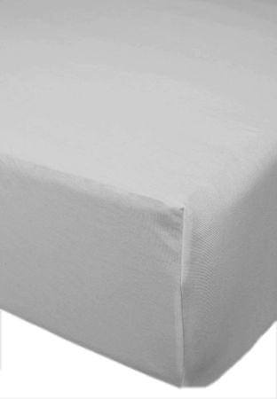 Joop! elastična rjuha Jersey UNI, 180-200 x 200 cm, siva