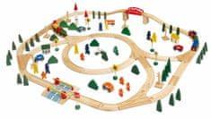 Woody Fajáték vonatkészlet, Városi vasút, 120 db-os