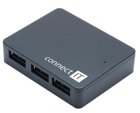 Connect IT SWIFT USB 3.0 Hub, 4 portos