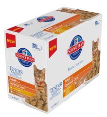 Hill's mokra hrana za odrasle mačke Mutlipack, piščanec in puran, 12 x 85 g