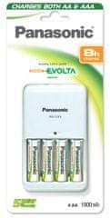 Panasonic polnilnik Q-CC03E/1KA*4P6E2050, z baterijami