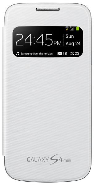 Samsung flip EF-CI919BW S-view Samsung Galaxy S4 mini, bílé