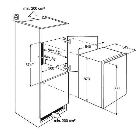 Electrolux vgradni hladilnik ERN1400AOW