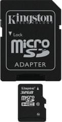 Kingston microSDHC 32GB (class 10) + adapter