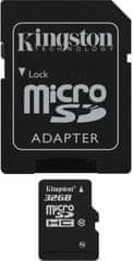 Kingston microSDHC 32GB (class 10) + adaptér