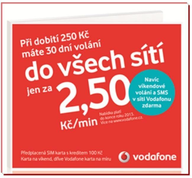 Vodafone Karta Na Miru 100kc Mall Cz