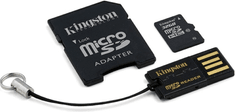 Kingston microSDHC 32GB (class 10) + adaptér + USB čtečka