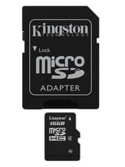 Kingston pomnilniška kartica microSDHC 16GB (class 4)