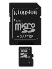 Kingston microSDHC 16GB (class 4)+adapter