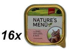Schmusy mokra karma w tackach dla kota Nature´s Menu Wołowina + drób 16 x 100g