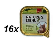 Schmusy mokra karma w tackach dla kota Nature´s Menu dziczyzna+tuńczyk 16x100g