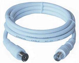 PremiumCord kabel anténní propojovací, M/F, 20m