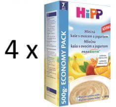 HiPP Mléčnoobilná kaše s ovocem a jogurtem 4 × 500g