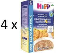 HiPP BIO Mléčnoobilná kaše na dobrou noc s dětskými keksy 4 × 500g