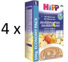 HiPP BIO Mléčnoobilná kaše na dobrou noc ovesná s jablkem 4 × 500g