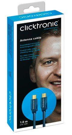 ClickTronic HQ OFC anténny kábel M/F, 1 m