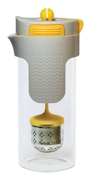 Stoneline Konvička na čaj a kávu nerez 750 ml žlutá