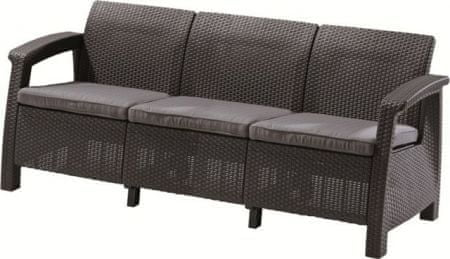 Allibert Corfu Love Seat MAX Kerti kanapé, Antracit