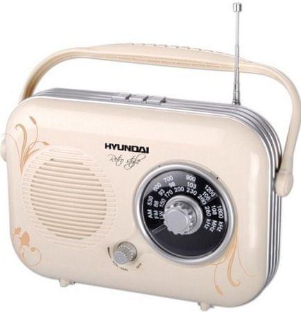 Hyundai retro radio PR100B, bež
