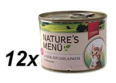 Schmusy Nature Menü Junior Borjú és baromfi Macskakonzerv, 12 x 190 g