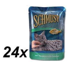 Schmusy mokra karma dla kota Fish tuńczyk + warzywa 24 x 100g