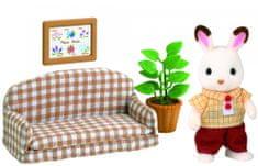 Sylvanian Families Nábytek chocolate králíků - taťka na pohovce 2201