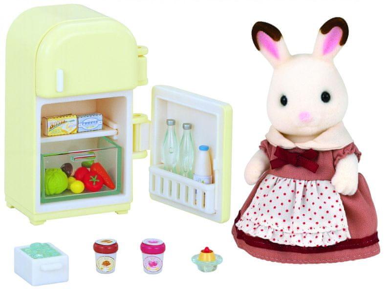 Sylvanian Families Nábytek chocolate králíků - mamka u ledničky 2202