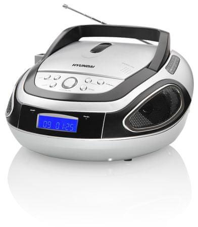 HYUNDAI TRC 512 AU3 Hordozható CD lejátszó, Ezüst