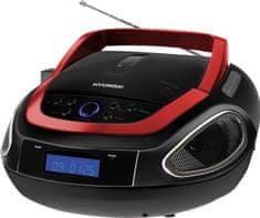 HYUNDAI TRC 512 AU3 Hordozható CD lejátszó, Fekete /Piros II.osztály