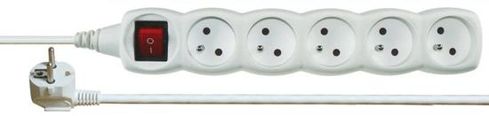 Emos Prodlužovací kabel, 5 zásuvky, 5 m, bílý
