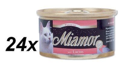 Finnern pašteta za mačke Miamor, losos, 24 x 85 g