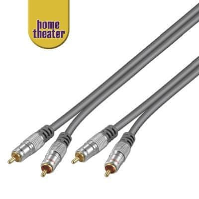 Home Theater HQ 2x cinch RCA, M/M, 0,75 m