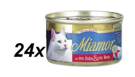 Finnern mokra karma dla kota Miamor Filet z kurczaka + Ryż 24 x 100 g