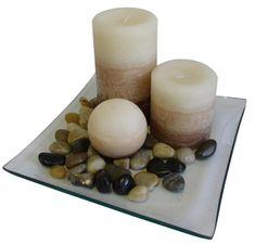 Toro Dárkový set 3 svíčky s vůní vanilky