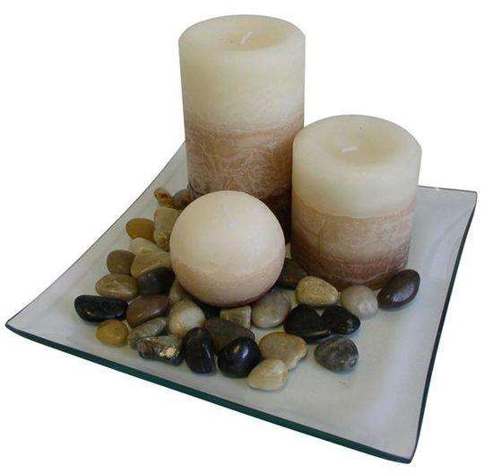 TORO Darčekový set 3 sviečky s vôňou vanilky