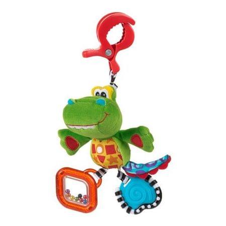 Playgro Plüss Krokodil rágókával Babajáték