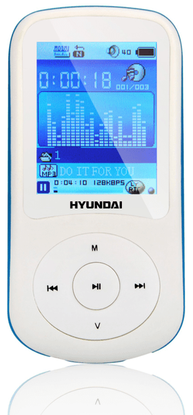 Hyundai MPC 401 FM / 4GB (White/Blue)