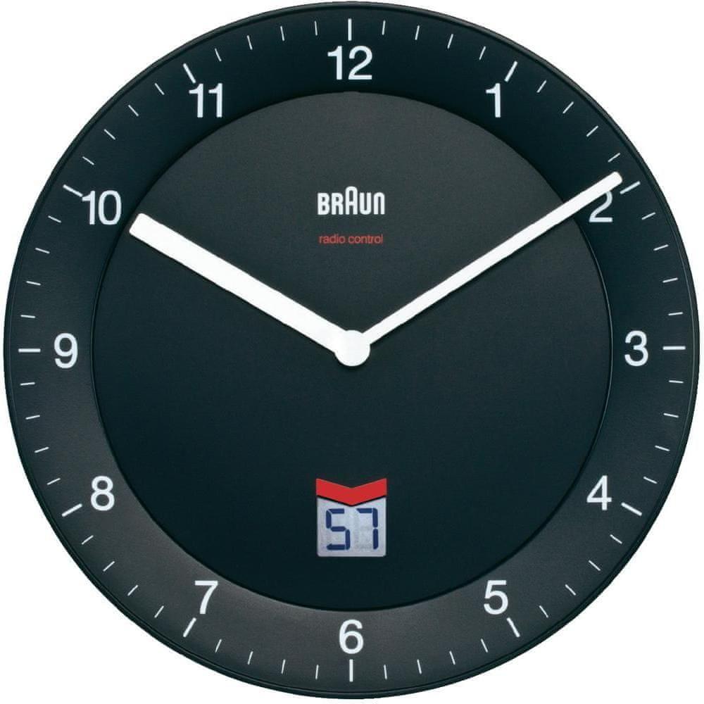 Braun Analogové nástěnné hodiny DCF 20 cm, černá