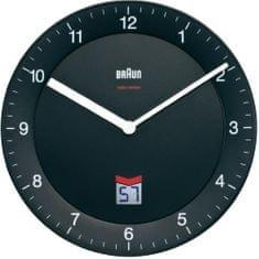 BRAUN Analógové nástenné hodiny DCF 20 cm, čierna