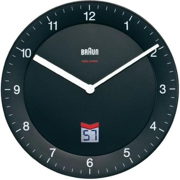 Braun Analogové nástěnné hodiny DCF 20 cm, černá - II. jakost