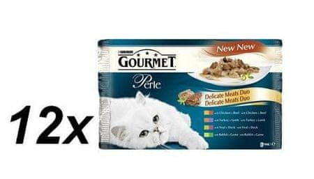 Gourmet Perle mesni duo 12 x (4 x 85 g)