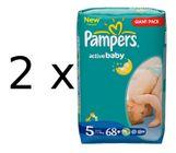 Pampers Pieluszki Active Baby Giantpack 5 ExtraLarge - 2 x 68 szt - 136 szt